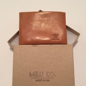 M&U Brand Leather Wallet